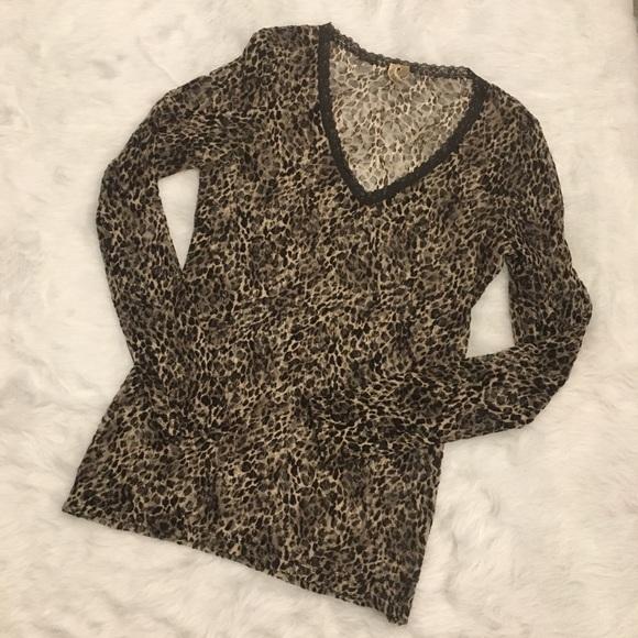 8d3cb442734b BKE Tops | By Buckle Leopard Animal Print Mesh Shirt | Poshmark